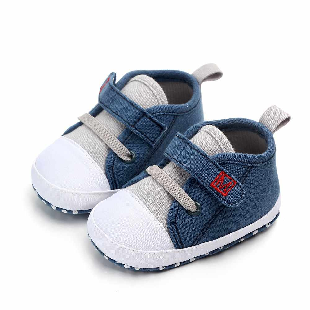 Newborn Baby Cute Boys Girls Canvas Letter First Walkers Soft Sole Shoes baby girl shoes toddler shoes infant girl shoes