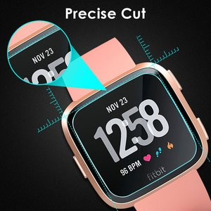 Image 3 - 1/2 PCS HD Tempered Screen Glass Protector Film For Fitbit Versa Smart watch Accessories 9H 2.5D Premium Screen Protector