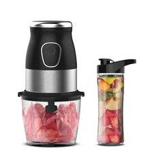 BPA FREE 500W Portable Personal Blender Mixer Food Processor With Chopper Bowl 600ml Juicer Bottle Meat Grinder Baby Food Maker цена 2017