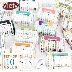 10 pçs/caixa decoração dividindo linha washi fita diy decoração scrapbooking planejador mascaramento fita adesiva etiqueta