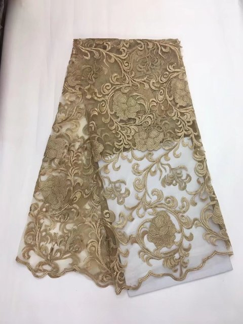 French lace fabric, apricot high quality cheap French lace fabric ...