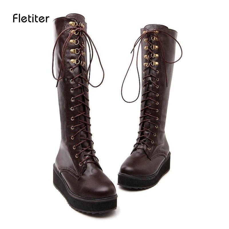 Brand Women Snow Boots Warm Winter Autumn Mid-Calf Shoes Female Platform Thick Heels Ladies Shoe Newest Fashion Zip Plus Size DE цена