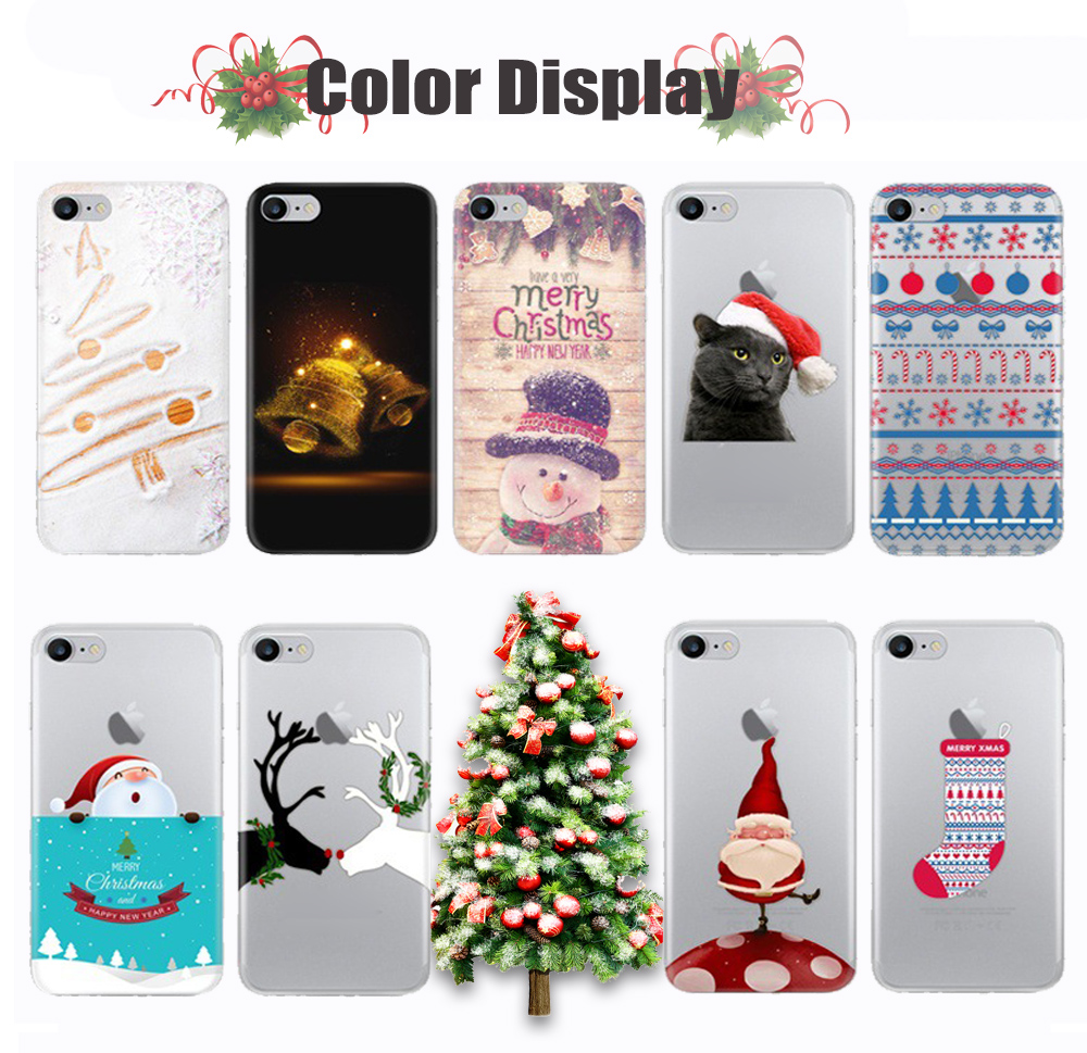 Merry Christmas Phone Case For Iphone7 7 Plus Case Paint Ultra Thin ...