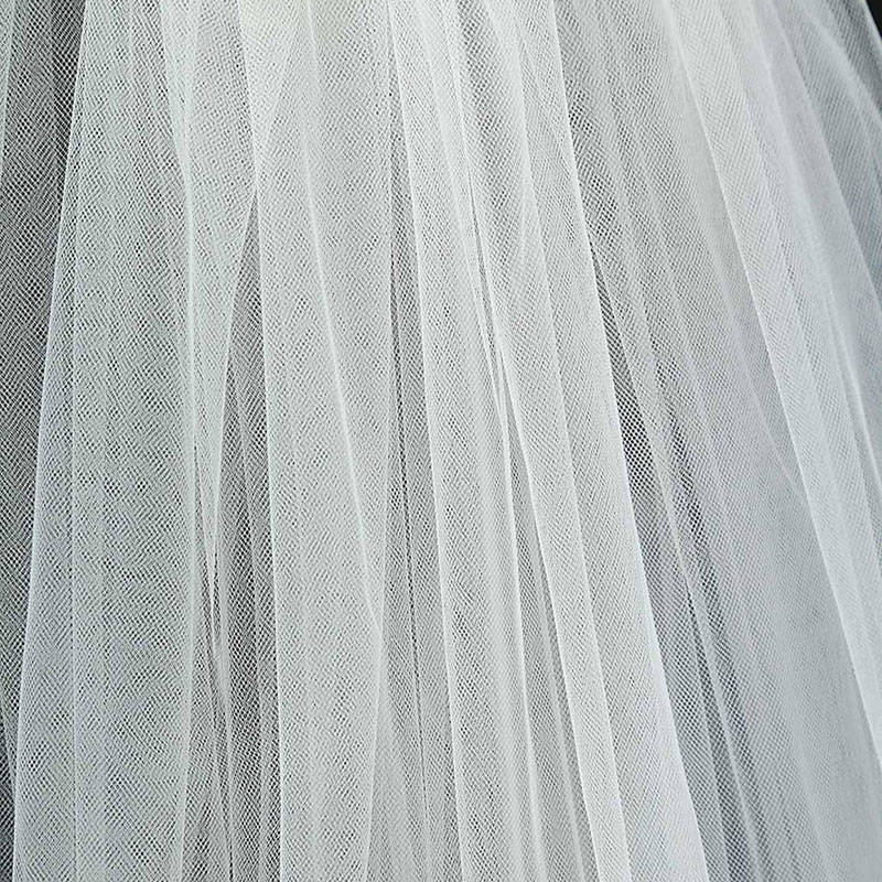 Tulle Sheer White Ivory Wedding Bridal Veils Cathedral for Bride 11059-2