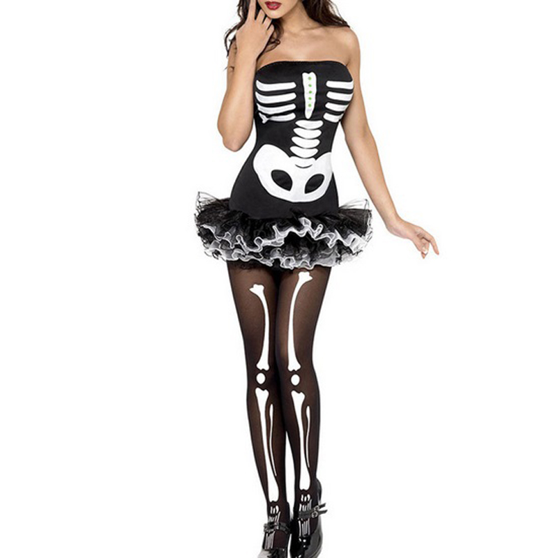 Halloween kostuum skeleton buis jurk Halloween Party Horror vrouwen - Feestversiering en feestartikelen - Foto 1