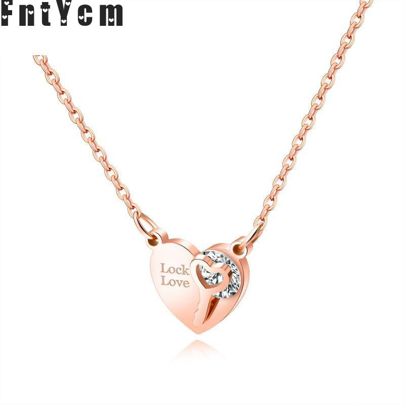 The Simple Lock Love Locks The Lock Key Of Love Necklaces & Pendants Natural Stone Pendants Mixed Women Necklace Jewelery