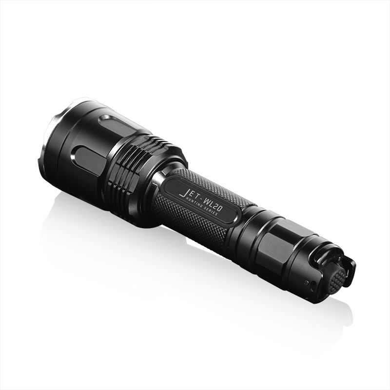 лучшая цена Original Jetbeam WL20 LED Flashlight CREE XPG3 S4 White,Red and Gree 3 Lights Torch Flashlight for Hunting with 18650 Battery