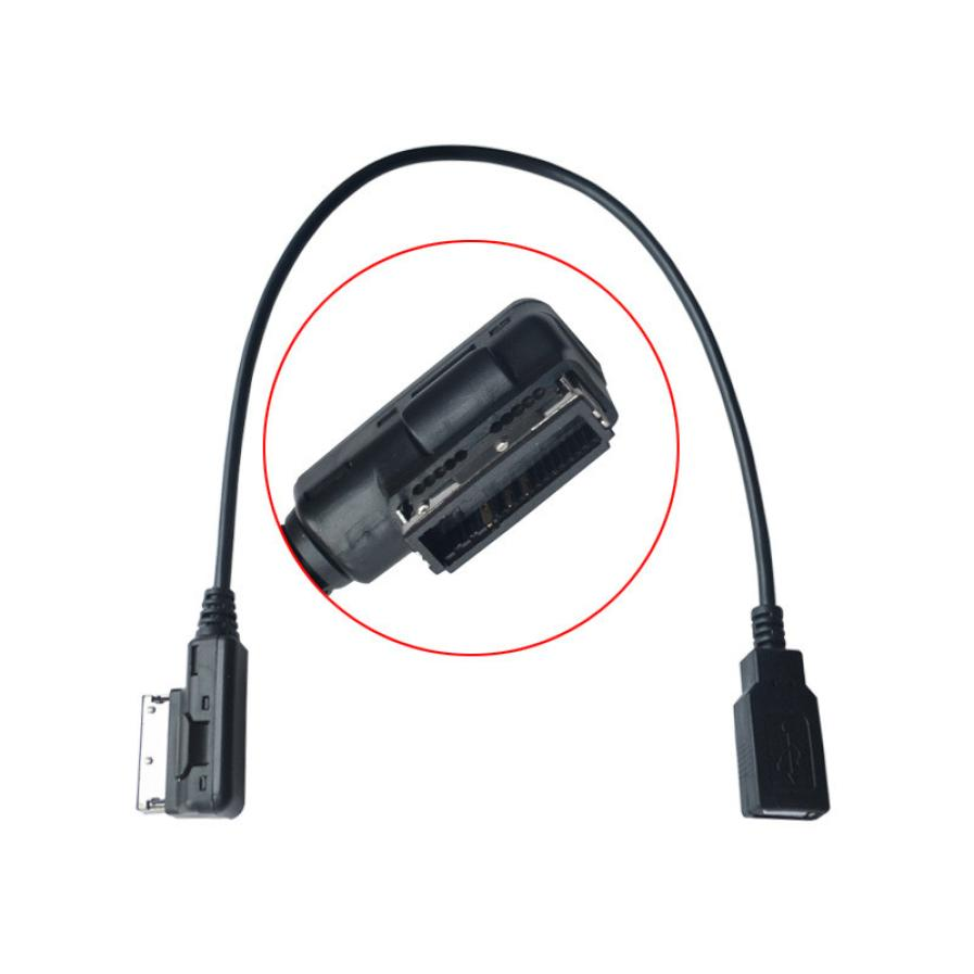 Kongyide 4F0051510G Media-In AMI MMI MDI AUX to USB Adapter Cable Interface for Audi VW