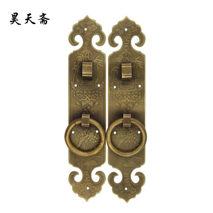 [Haotian vegetarian] antique copper handle door handle Screen door handle HTC-119[Haotian vegetarian] antique copper handle door handle Screen door handle HTC-119