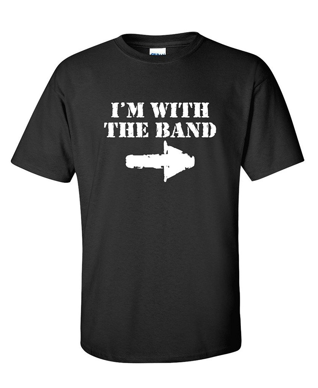 Buy Formal Shirts  O-Neck Short Sleeve Broadcloth Mens I'M Band Music Sexual Drummer Design T Shirt