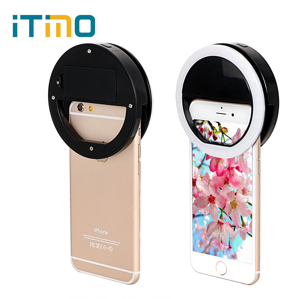 iTimo Selfie Fill Light Mini Cell Phone Camera Power By Battery For IOS Android Smartphone 36 Leds Portable LED Flash Fill Light