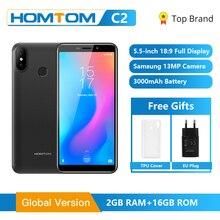 Ban Đầu HOMTOM C2 Android 8.1 2GB + ROM 16GB Di Động Điện Thoại Mặt ID MTK6739 Quad Core 13MP Dual camera OTA 4G FDD LTE Điện Thoại Thông Minh