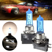 1Pair H11B 55W Car Halogen Fog Lamp Car Auto Low Beam Headlight Bulb White Lamp DC 12V 6000K Light Source