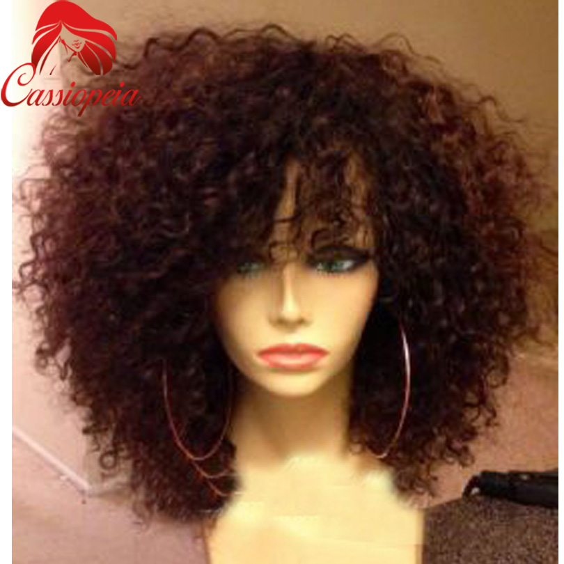 Brazilian Kinky Curly Full Lace Wigs High Ponytail With