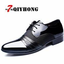 668992830d5 Qiyhong брендовые Мужские модельные туфли большой размер 38-48 Для мужчин  Бизнес без каблука Обувь чёрный  коричневый дышащие Ни..