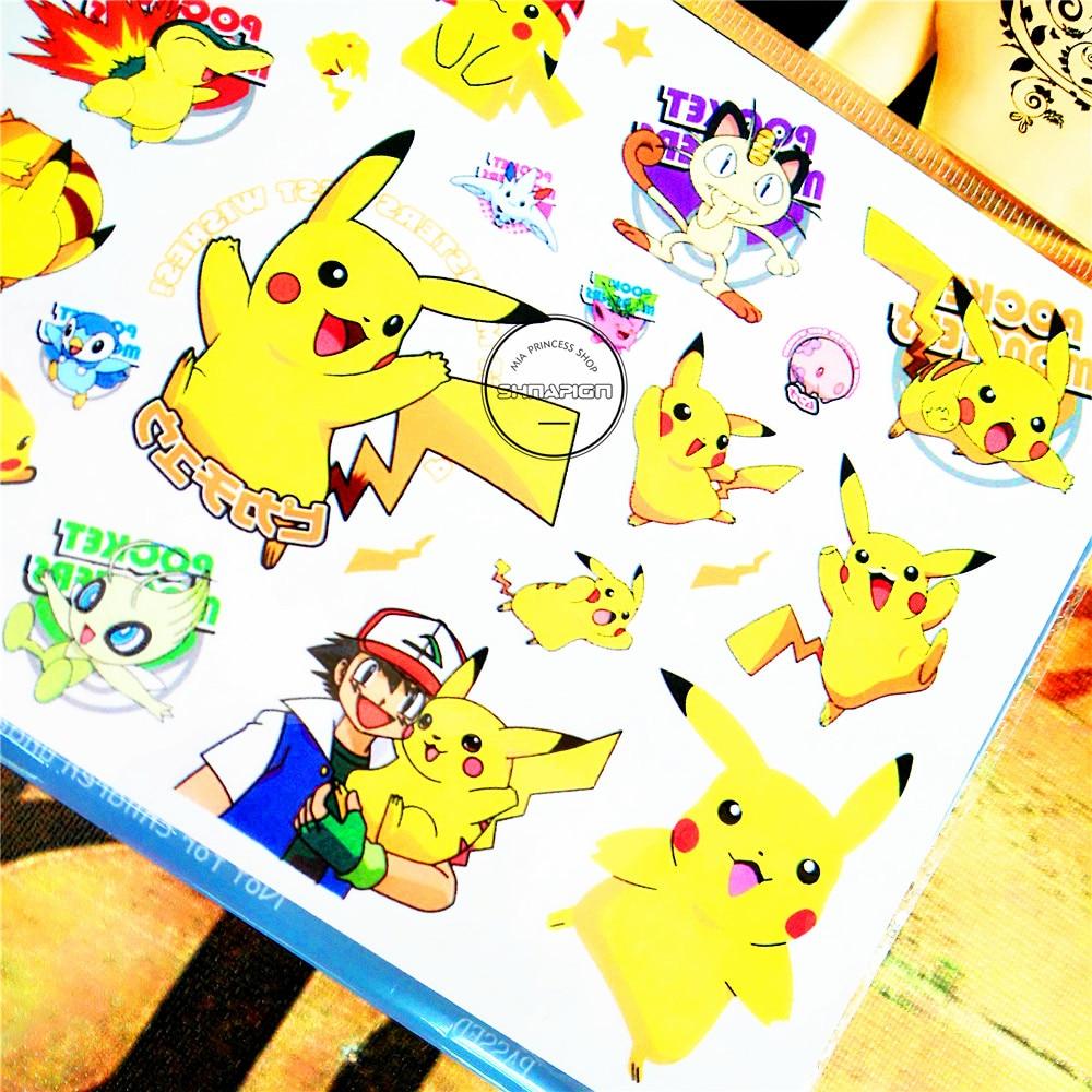 SHNAPIGN Pokemon Go Child Temporal Body Art Flash Tattoo Sticker 10 * - Tatuering och kroppskonst - Foto 4