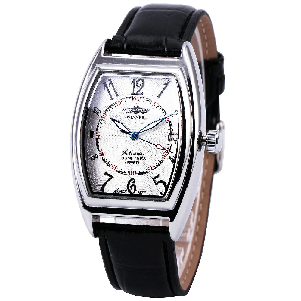 Fashion Design Women Automatic Watches Top Brand Luxury Ladies Business Dress Wristwatches WINNER Calendar Date Clock