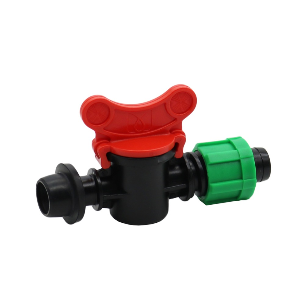 13mm To 15mm Agriculture Drip Irrigation Bypass Valve With Lock Nut Greenhouse Watering Irrigation Water Tube Fitting 1 Pcs