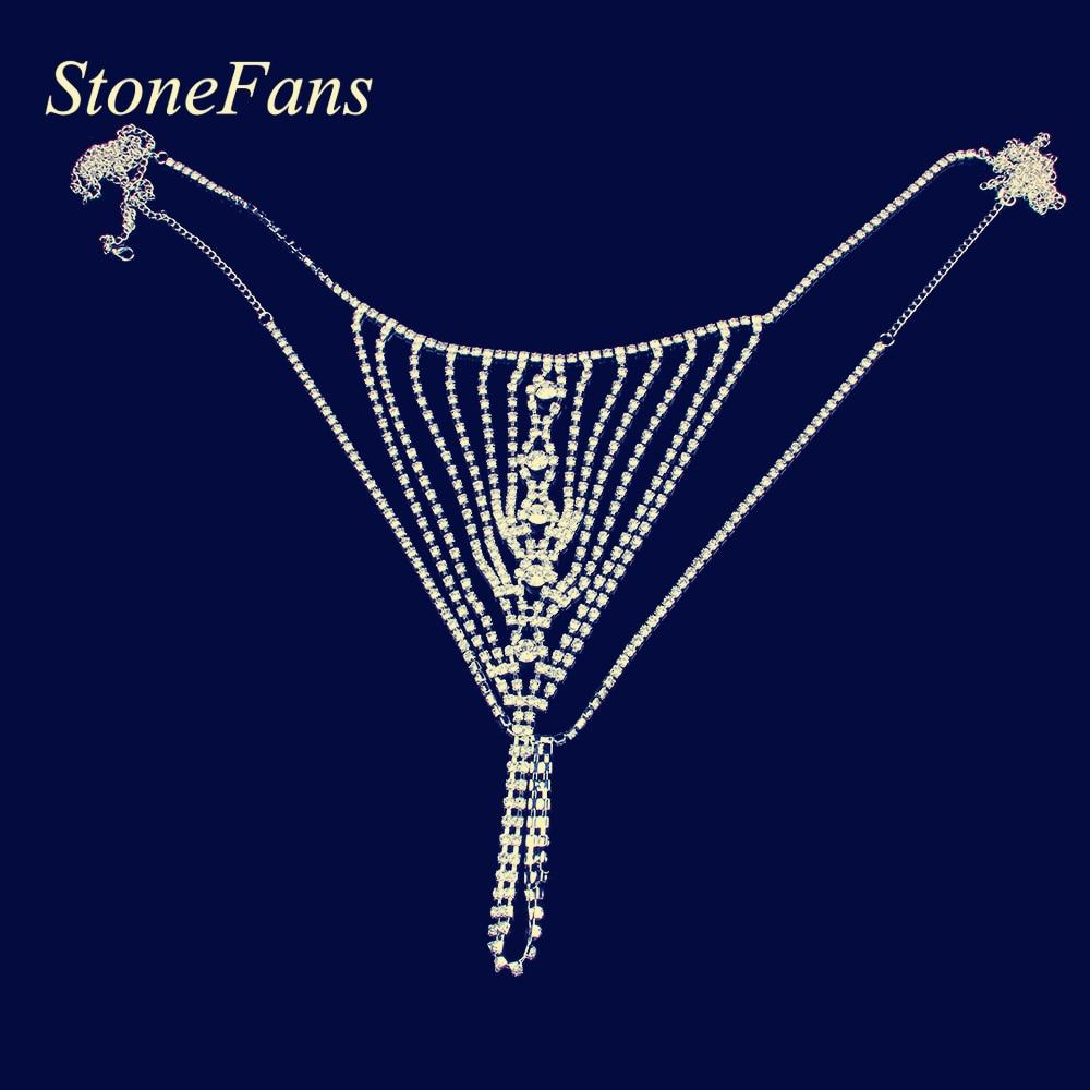 Stonefans Стразы, ювелирные изделия для тела, сексуальные трусики-стринги в форме глаз, прозрачное Кристальное нижнее белье, женские сексуальные аксессуары