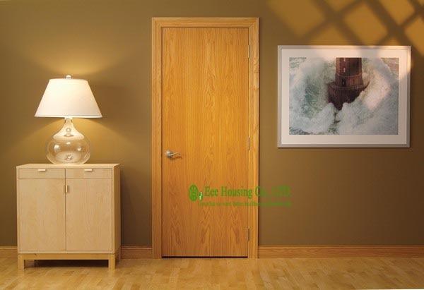 Fabricant de portes affleurantes en bois, portes affleurantes modernes de grain en bois à vendre