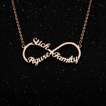 Infinite Name Necklace Custom Necklaces Unlimited stainless steel Three Names Collar Mujer Wedding Bride Party