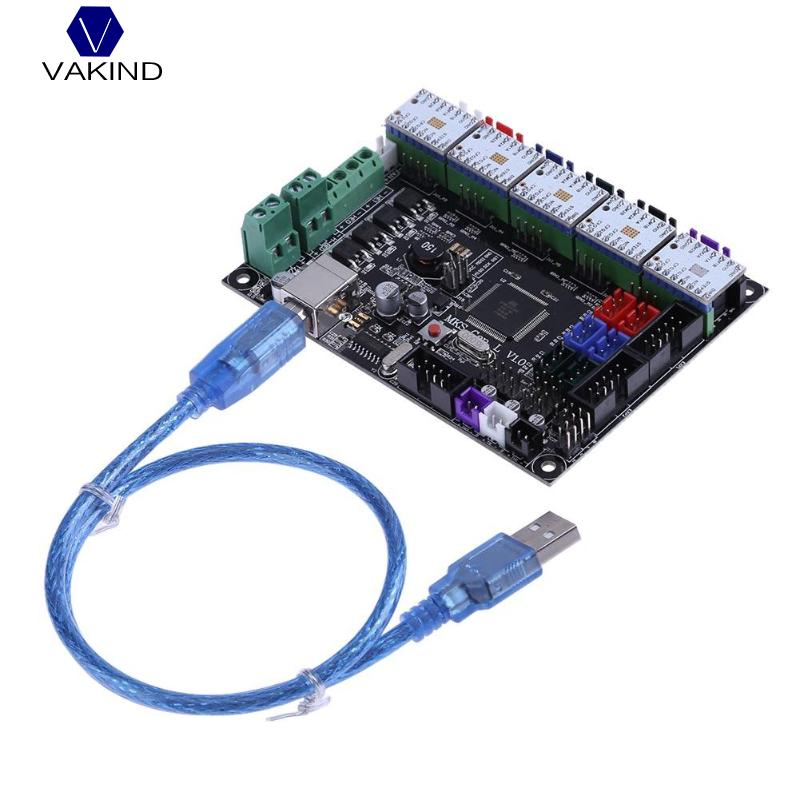 VAKIND MKS Gen V1.0 3D Printer Control Board + 5pcs TMC2100V1.3 Stepper Motor Driver For 3D Printer Parts vakind mks gen v1 0 3d printer control board 5pcs tmc2100v1 3 stepper motor driver for 3d printer parts