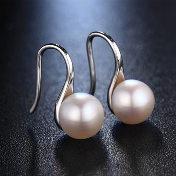 Hot Sale Natural Pearl Earrings For Women Freshwater AAAA Pearl Stud Earring Accessories Earrings, 925 Sterling Silver Earrings 2