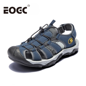 Image 2 - Fashion Men Beach Sandals size 39 46 Men Roman Style Sandals Summer Leather Shoes for Beach Outdoor Walking shoes male