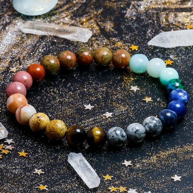 Space Planets Bracelet Natural Stones