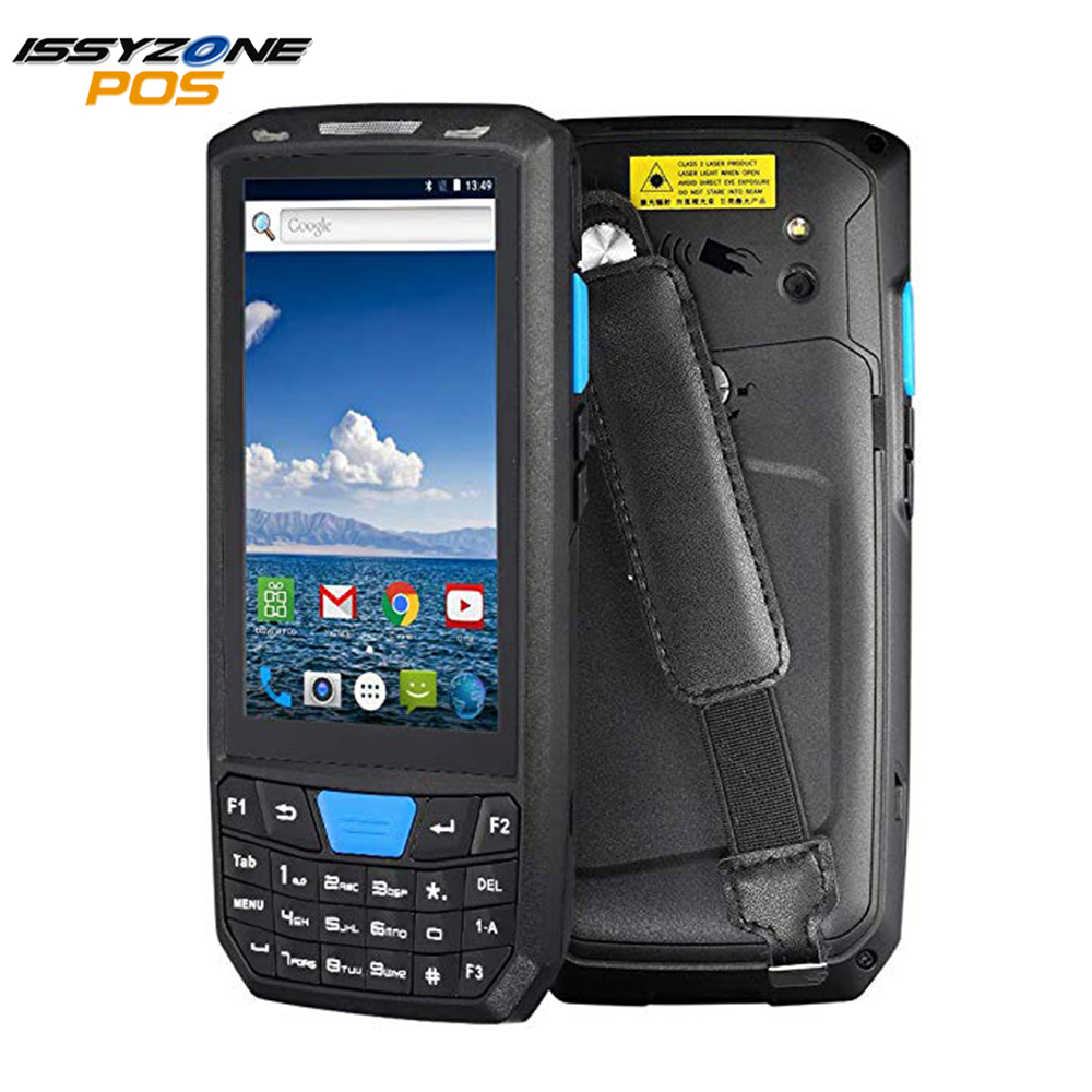 IssyzonePOS Rugged PDA Handheld Android Pos Terminal 1D 2D 4G Bluetooth Barcode Scanner Suporte Wi-fi Sem Fio Armazém GPS PDA