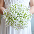 2016 Дешевые Невесты Свадебный Букет Белый Гипсофила/babysbreath Искусственный Цветок Свадебный Букет Искусственный букет де mariage