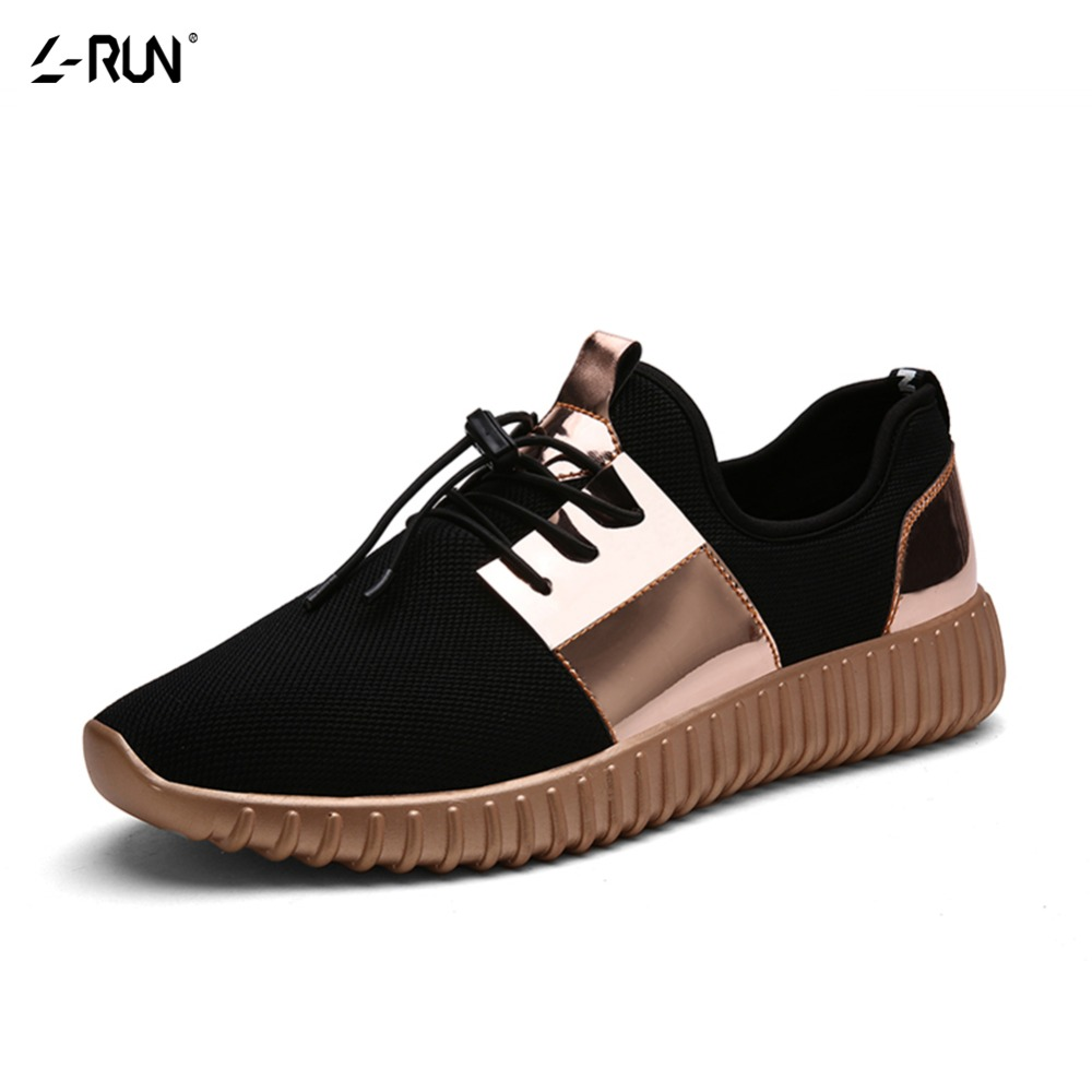 Couple mesh gold men women casual shoes summer fashion breathable durable lace up sapatos walking casuais