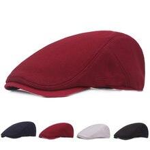 HT1719 2018 nuevos sombreros del verano para los hombres mujeres Casual Ivy  Flat gorras boinas sólido 32bf4783657a