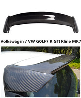 For Volkswagen / VW GOLF7 R GTI Rline MK7 2014 2017 Carbon Fiber Spoiler High Quality Car Rear Wing Spoilers Auto Accessories