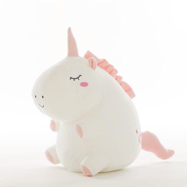 Unicornio de peluche de juguete gordo unicornio muñeca lindo animal de peluche unicornio suave almohada bebé juguetes para niños niña cumpleaños regalo de Navidad 2