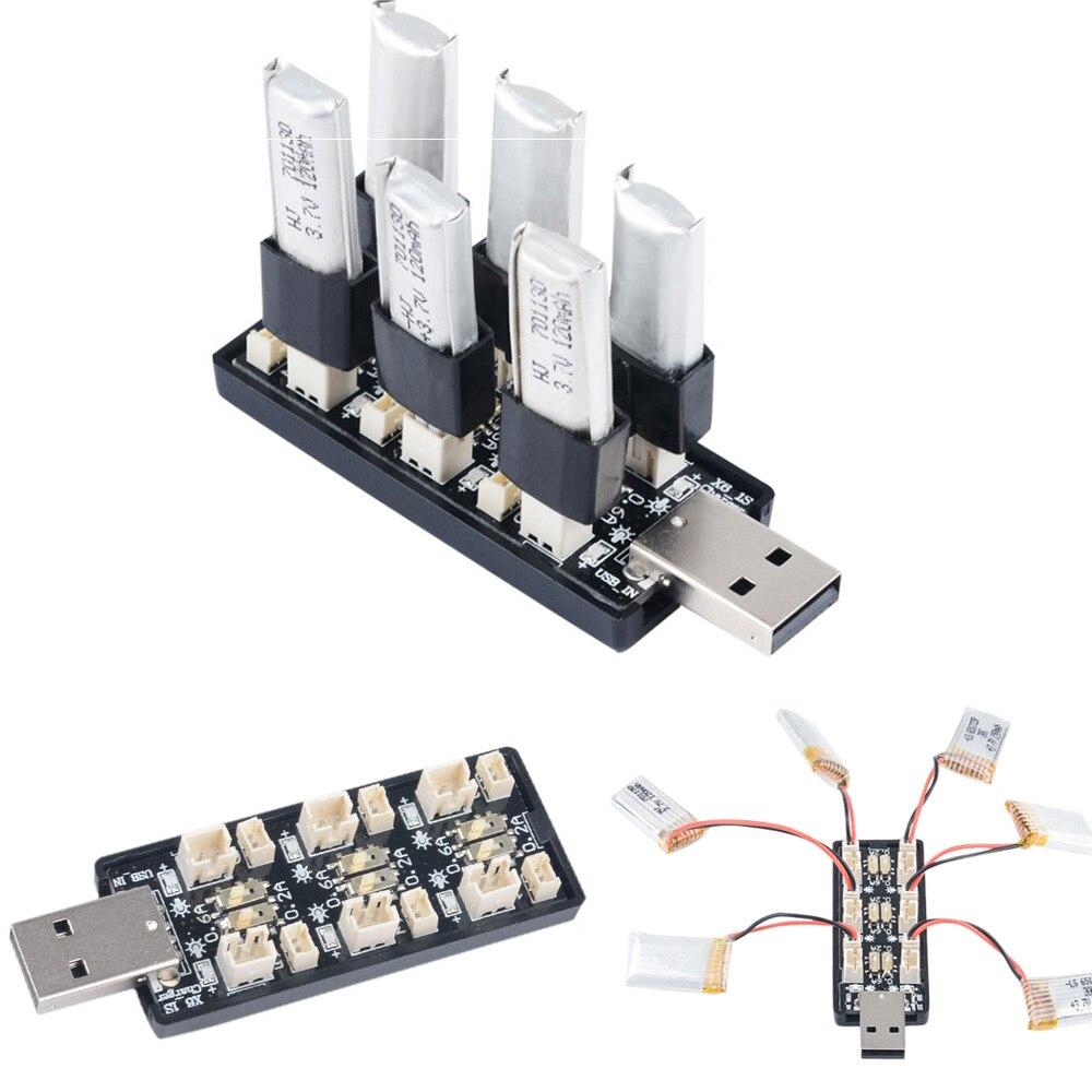 6 canales USB a 3,7 V ~ 3,8 V 1S LiHv Lipo cargador de batería adaptador tablero 5V 2A USB cargador de batería para RC modelo de baterías Los mejores relojes de gama alta de 2020, reloj despertador con termómetro, reloj de mesa con voz Digital LED, batería de reloj Digital de 13 colores/alimentación USB