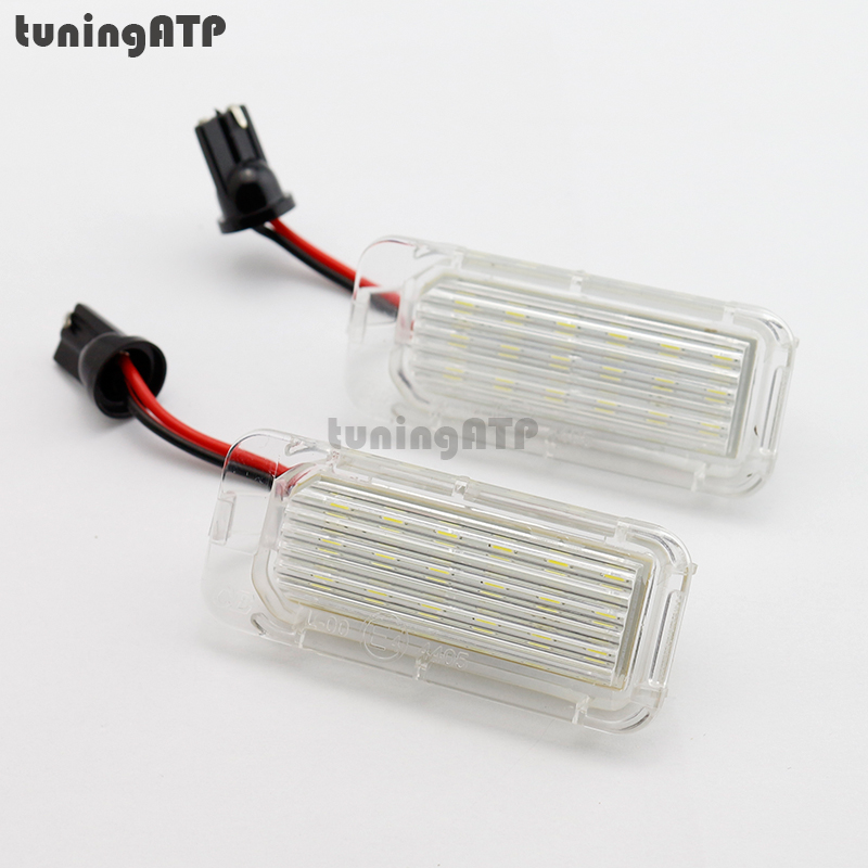 2x 18-SMD LED License Plate Light Module for FORD Focus DA3 DYB / Fiesta JA8 / Mondeo Mk4 / C-Max / S-Max / Kuga / Galaxy ouzhi for ford focus 2 3 mondeo fiesta f150 orange brown brand designer luxury pu leather front