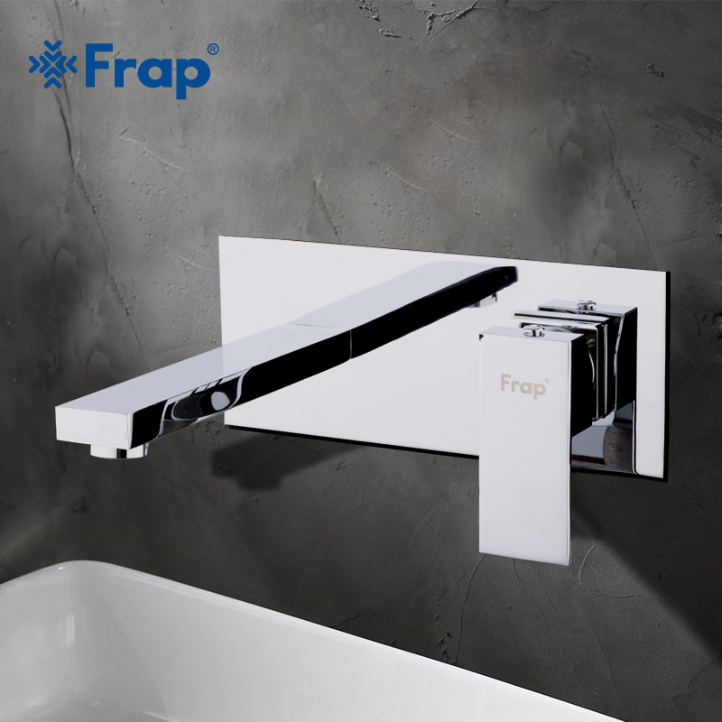 FRAP Fashion Chrome Brass Single Lever Basin Faucet Hot and Cold In wall Mixer Tap Sink