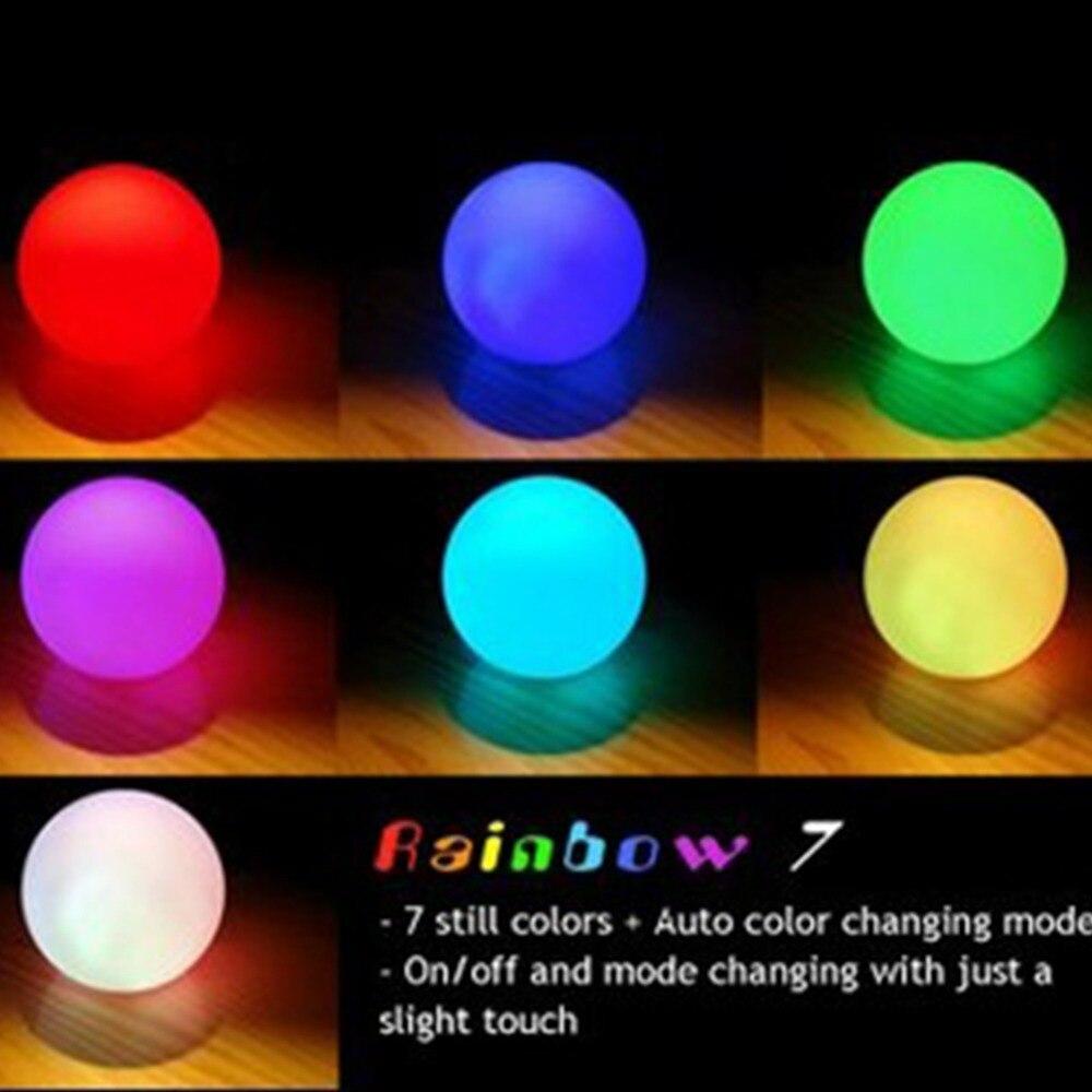 7 colores que cambian bola de luz LED Mood lmpara de luz nocturna
