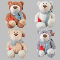 45 cm plush toy stuffed doll cute scarf love heart ted teddy bear bedtime story lover Christmas birthday gift free shipping