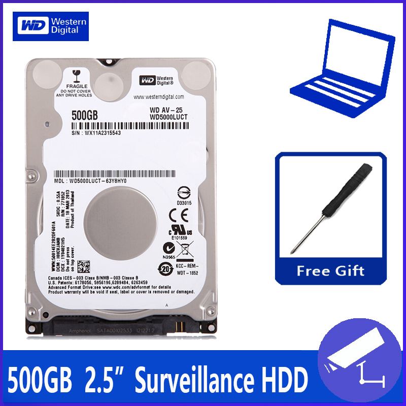WD5000LUCT 500G 2 5 surveillance Hard Disk Drive HDD HD Harddisk Notebook Laptop Monitor 16M 5400