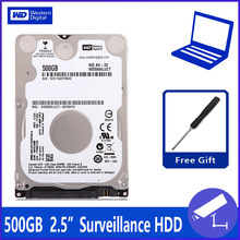 "WD5000LUCT 500G 2.5 ""Surveillance Hard Disk Drive HDD HD Harddisk Notebook Laptop Monitor 16 M 5400 Rpm 7 MM DVR NVR CCTV(China)"