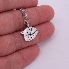 hzew Little panda pendant necklace cute panda necklaces gift cute panda rhinestoned pendant necklace for women