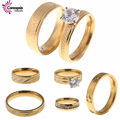 @Hot Sale minimalist fashion Male models atmospheric Tyrant gold rings jewelry simulation rings crystal zircon women sets rings