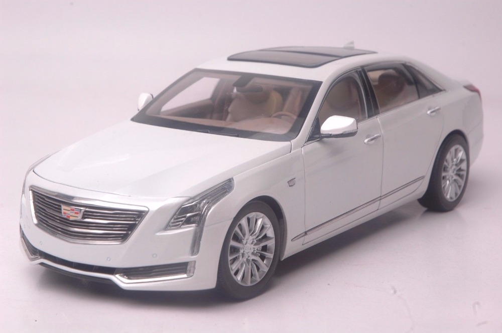 1:18 Diecast Model for GM Cadillac CT6 2016 White Sedan Alloy Toy Car Miniature Collection Gifts CT 1 18 diecast model for gm cadillac xt5 white suv alloy toy car miniature collection gifts ats