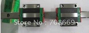 HIWIN Linear Guide HGR15 Lenght=500mm rail +2pcs HGW15 CA blocks hiwin hgr15 linear guide rail 500mm rod for slider hgw15 hgh15 high efficiency cnc parts