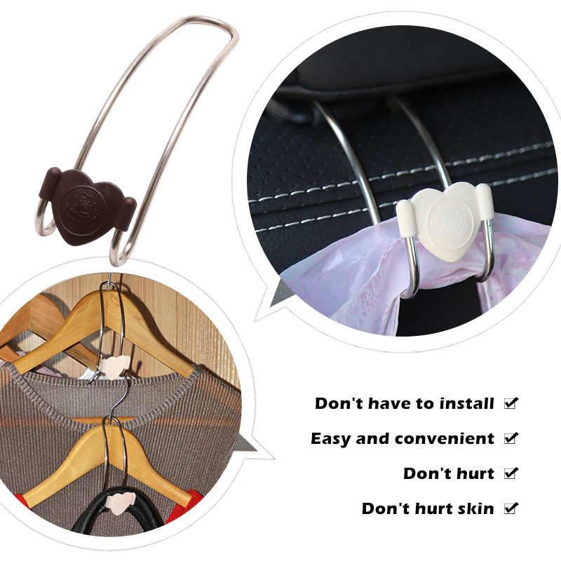 1 pc רב תפקודי מתכת אוטומטי רכב מושב משענת ראש קולב תיק מחזיק הוק תיק ארנק בד מכולת אחסון אוטומטי אטב קליפ