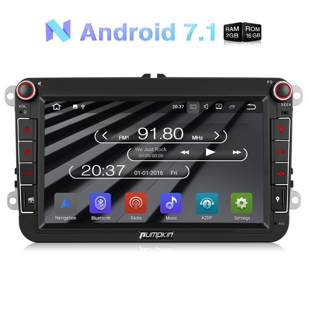 Wholesale! 2 Din 8'' Android 7.1 Car Radio No DVD Player GPS Navigation Car Stereo For VW/Skoda/Seat/Golf Wifi 3G DAB+ Headunit funrover android 8 0 two 2 din 9 inch car dvd player stereo for vw volkswagen polo golf skoda octavia seat radio wifi usb no dvd