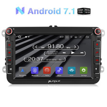 Wholesale! 2 Din 8'' Android 7.1 Car Radio No DVD Player GPS Navigation Car Stereo For VW/Skoda/Seat/Golf Wifi 3G DAB+ Headunit