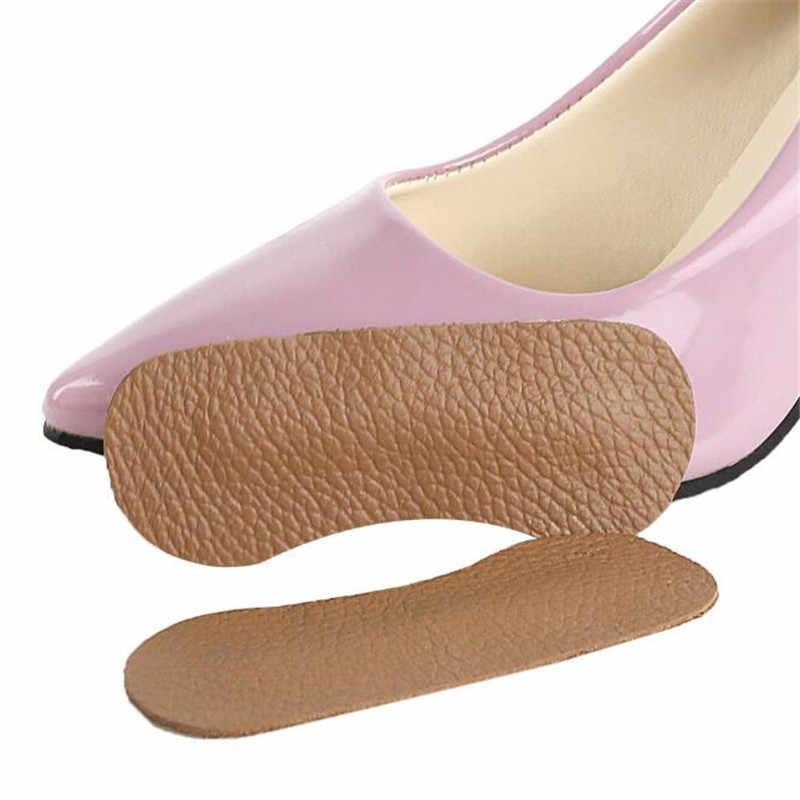 1 Pair Foot Care รองเท้าแผ่นวัวหนังพื้นรองเท้าสูง Heel Cushion สำหรับสุภาพสตรี